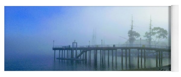 Dana Point Harbor When The Fog Rolls In Yoga Mat