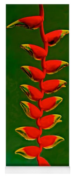 Dance Of The Heliconias Yoga Mat