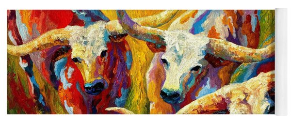 Dance Of The Longhorns Yoga Mat