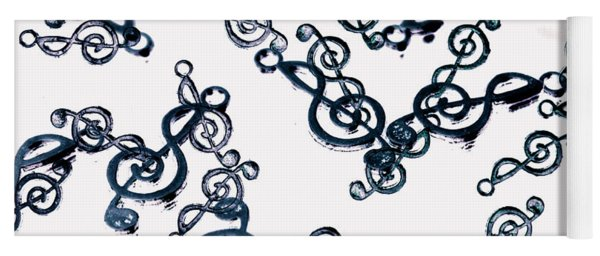 Dance Of The Treble Clef  Yoga Mat