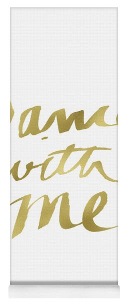Dance With Me Gold- Art By Linda Woods Yoga Mat