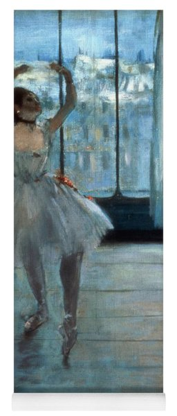 Dancer In Front Of A Window Yoga Mat