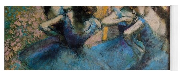 Dancers In Blue Yoga Mat