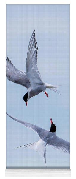 Dancing Arctic Terns Yoga Mat