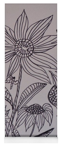 Dancing Sunflowers Yoga Mat