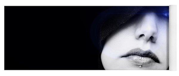Yoga Mat featuring the digital art Dark Angel by ISAW Company