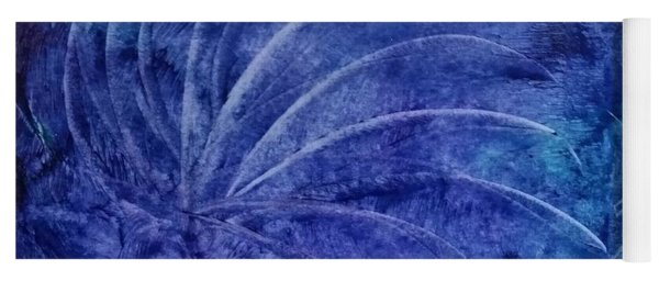 Dark Blue Abstract Yoga Mat