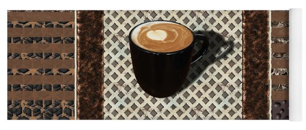 Dark Chocolate Mocha - Coffee Art Yoga Mat