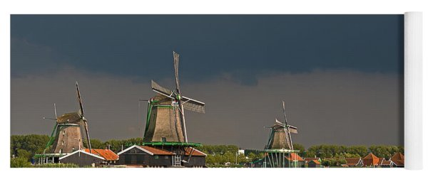 Dark Clouds Above Zaanse Schans Yoga Mat