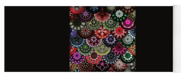 Dark Flower Yoga Mat
