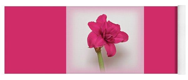 Dark Pink Amaryllis Yoga Mat