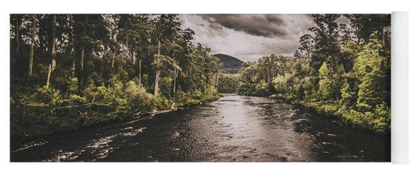 Dark River Woods Yoga Mat