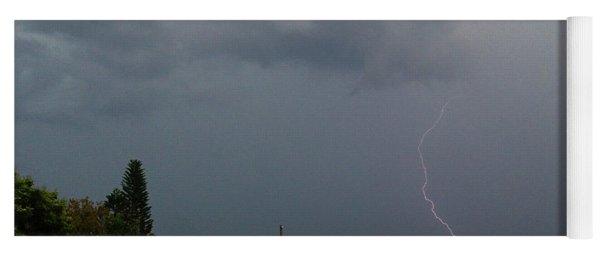 Dark Sky And Lightning Yoga Mat