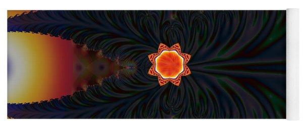 Dark Space Fractal  Yoga Mat