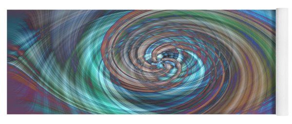 Dark Swirls Yoga Mat