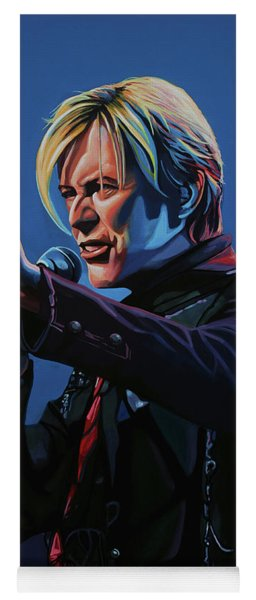 David Bowie Live Painting Yoga Mat