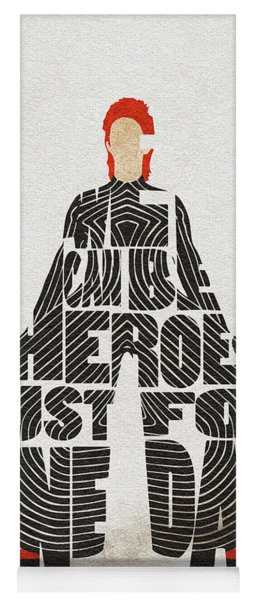 David Bowie Typography Art Yoga Mat