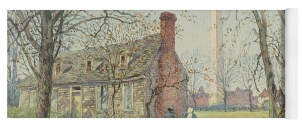 David Burns's Cottage And The Washington Monument, Washington Dc, 1892  Yoga Mat