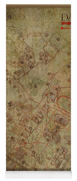 Davidson College Map Yoga Mat