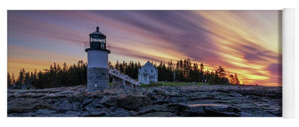 Dawn Breaking At Marshall Point Lighthouse Yoga Mat