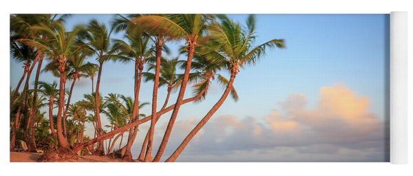 Yoga Mat featuring the photograph Dawn In Punta Cana by Adam Romanowicz