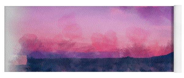 Dawn In Taos In Aquarelle Yoga Mat