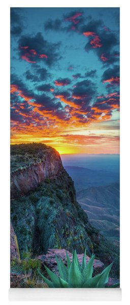 Dawn In The Chisos Yoga Mat