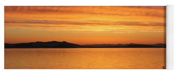 Dawn In The Sky At Dusavik Yoga Mat