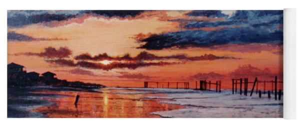 Dawn On Crystal Beach Yoga Mat