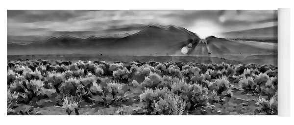 Dawn Over Magic Taos In B-w Yoga Mat