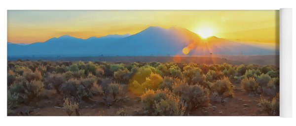 Dawn Over Magic Taos Mountain Yoga Mat