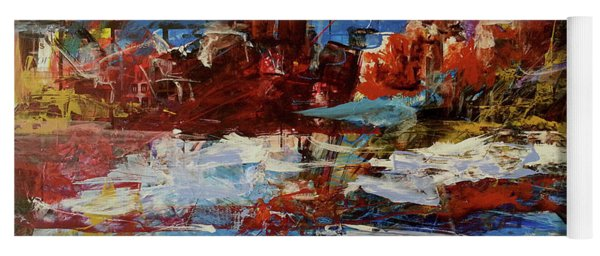 Yoga Mat featuring the painting Day Dreaming Sedona Arizona by Reed Novotny