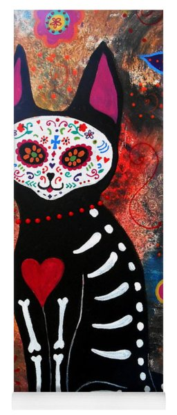 Day Of The Dead Cat El Gato Yoga Mat