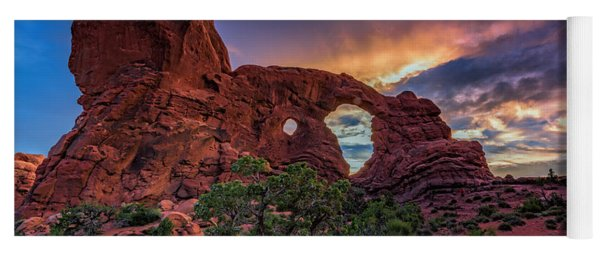 Day's End At Turret Arch Yoga Mat