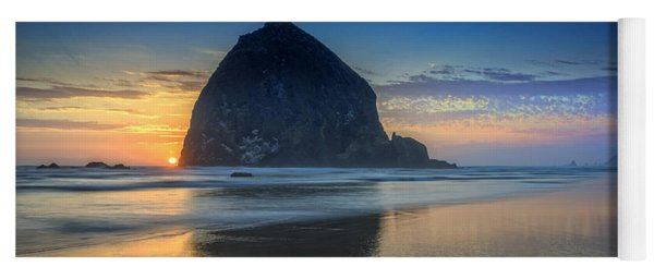 Day's End In Cannon Beach Yoga Mat