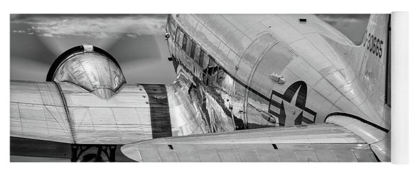 Dc3 Taxiing For Departure Yoga Mat