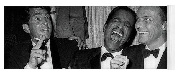 Dean Martin, Sammy Davis Jr. And Frank Sinatra Laughing Yoga Mat