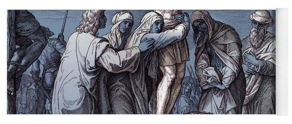 Death Of Jesus On The Cross, Gospel Of John Yoga Mat