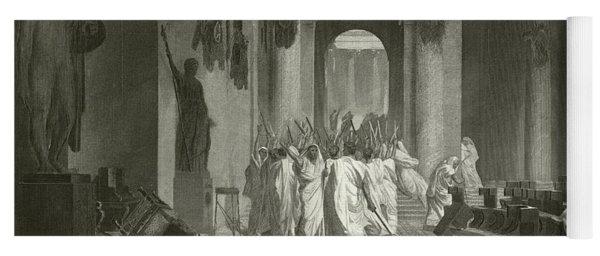 Death Of Julius Caesar, 44 Bc  Yoga Mat