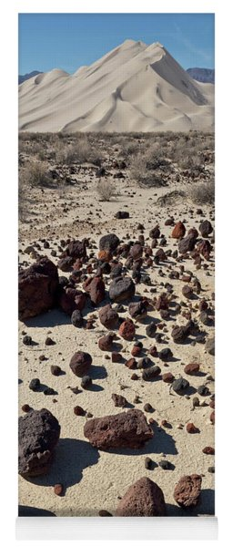 Death Valley Dunes And Rocks  Yoga Mat