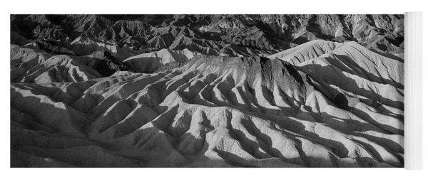 Death Valley Erosion B W Yoga Mat