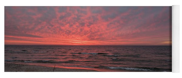 December Sunset On Lake Michigan Yoga Mat