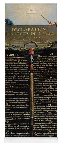 Declaration Of The Rights Of Man And Citizen Yoga Mat