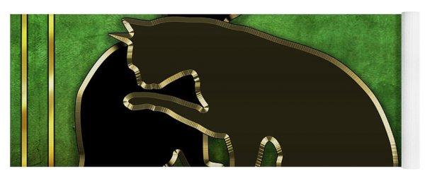 Deco Cats - Emerald Yoga Mat