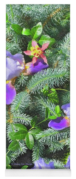 Yoga Mat featuring the photograph Decorating For Spring by Nancy Lee Moran