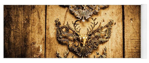 Decorative Moose Emblems Yoga Mat