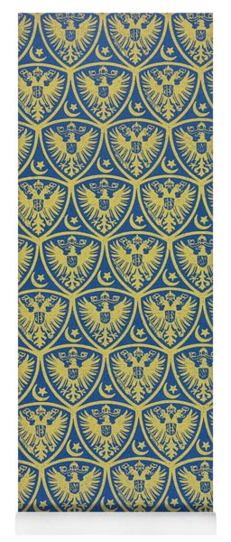 Decorative Pattern With The German Coat Of Arms Yoga Mat