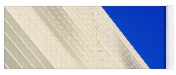 Deep Blue Sky And Office Building Wall Yoga Mat