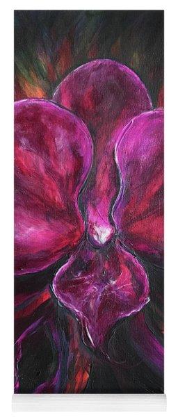 Deep Purple Orchid Yoga Mat