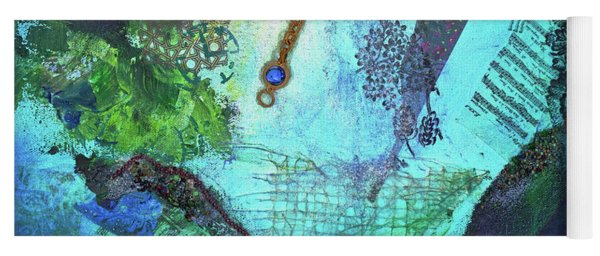 Yoga Mat featuring the painting Deep Sea Life by TM Gand